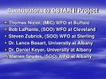 contributors to cstar ii project