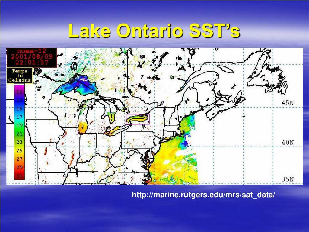 Lake Ontario SST's