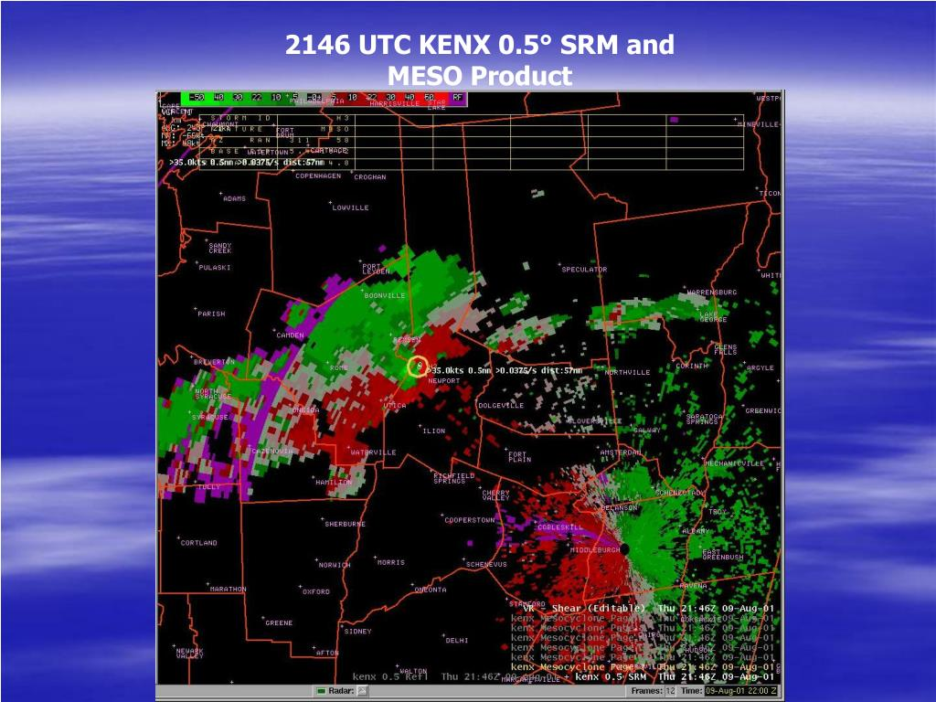 2146 UTC KENX 0.5° SRM and MESO Product