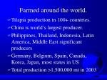 farmed around the world