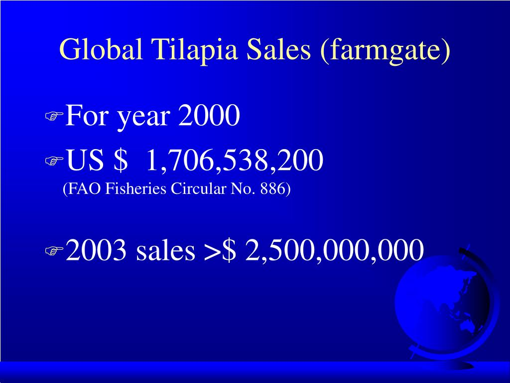 Global Tilapia Sales (farmgate)