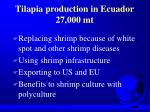 tilapia production in ecuador 27 000 mt