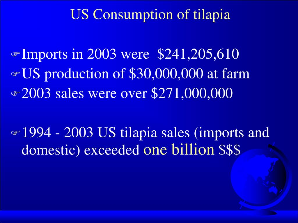 US Consumption of tilapia