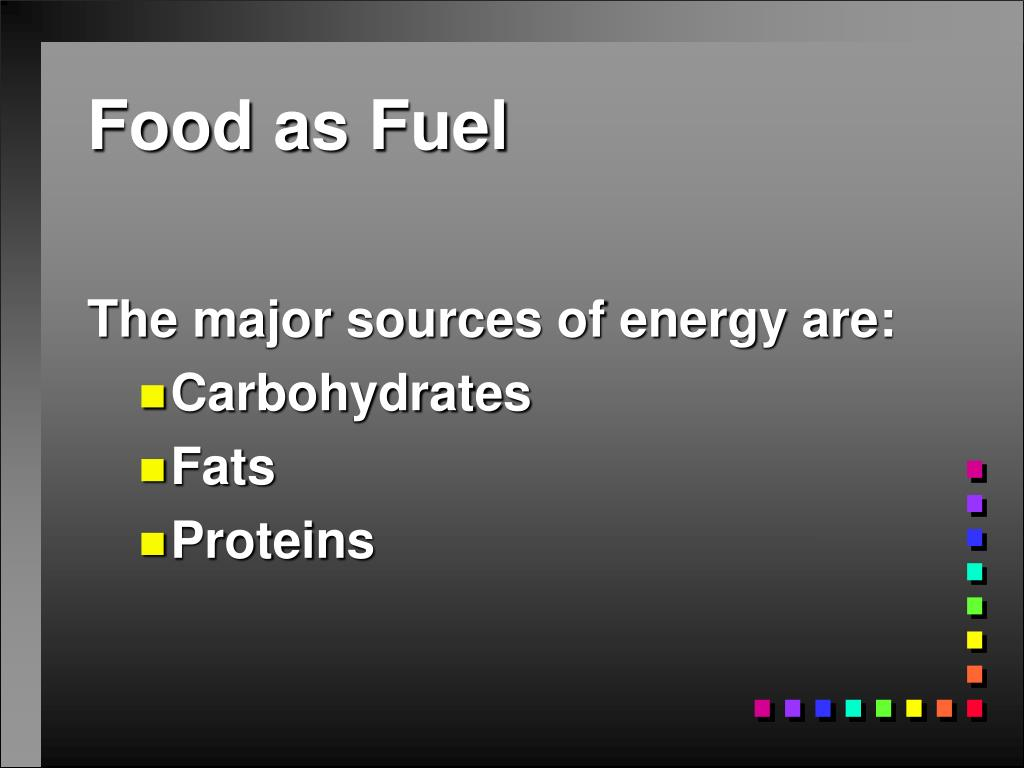 Food as Fuel