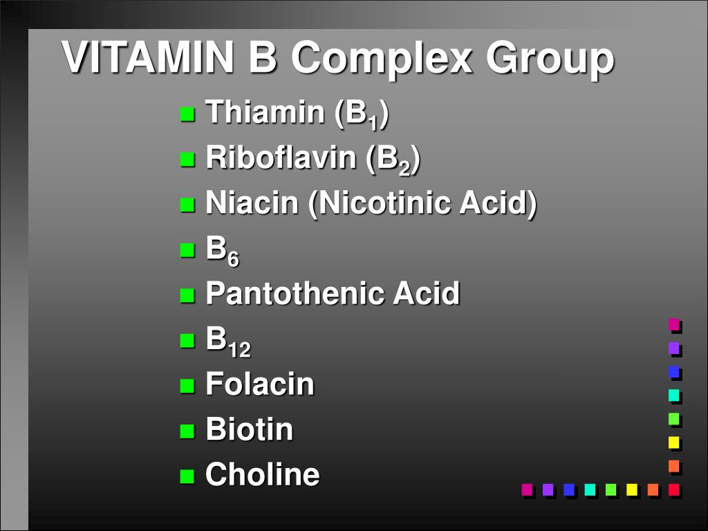 VITAMIN B Complex Group