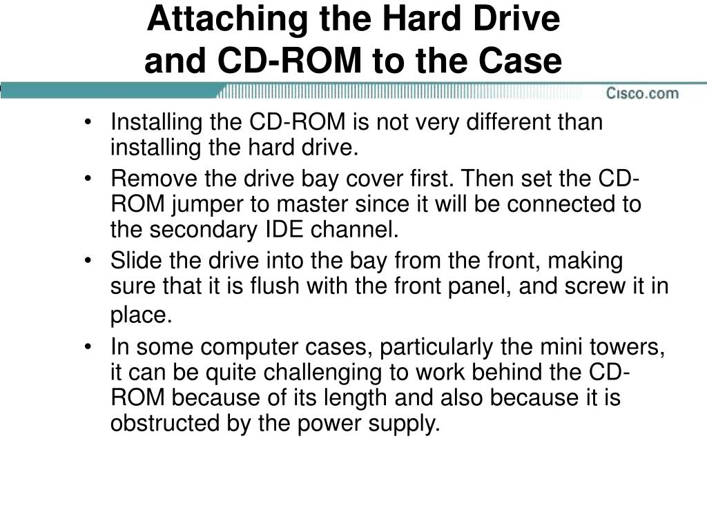 Attaching the Hard Drive