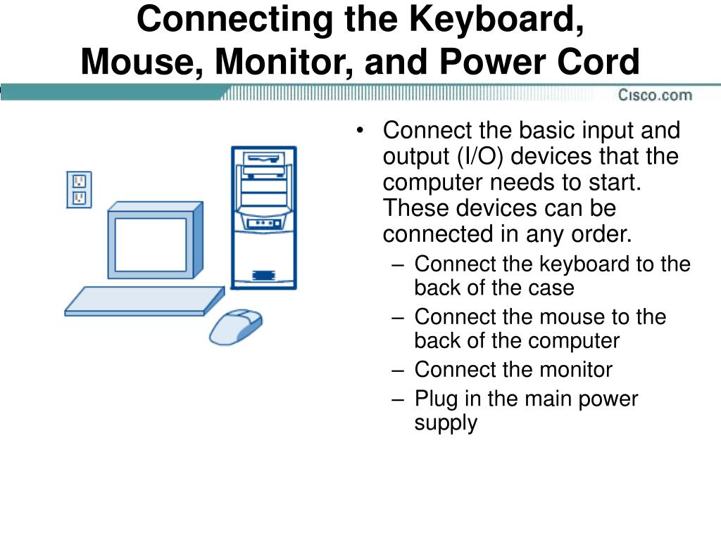 Connecting the Keyboard,