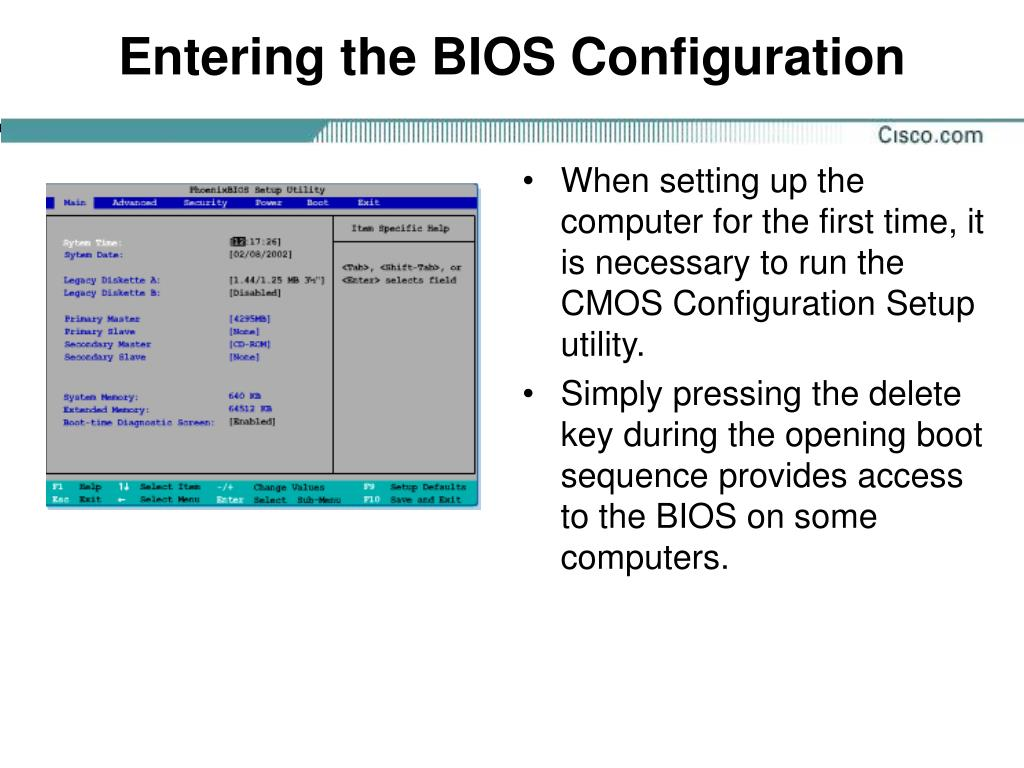 Entering the BIOS Configuration