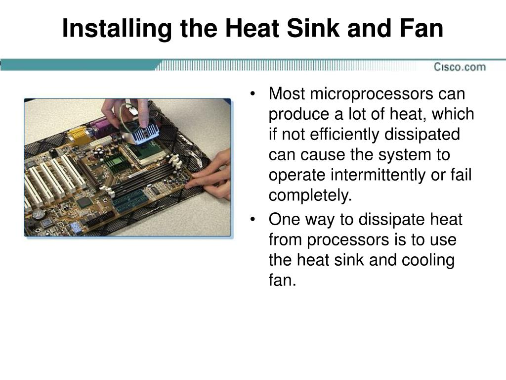Installing the Heat Sink and Fan