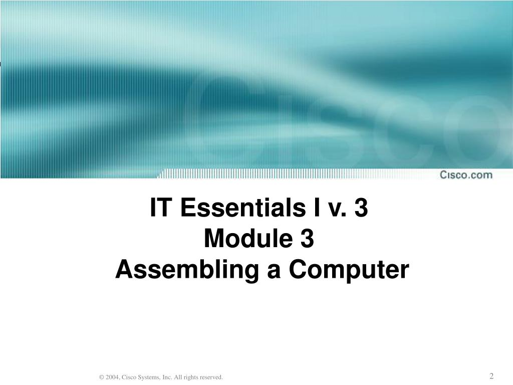 IT Essentials I v. 3