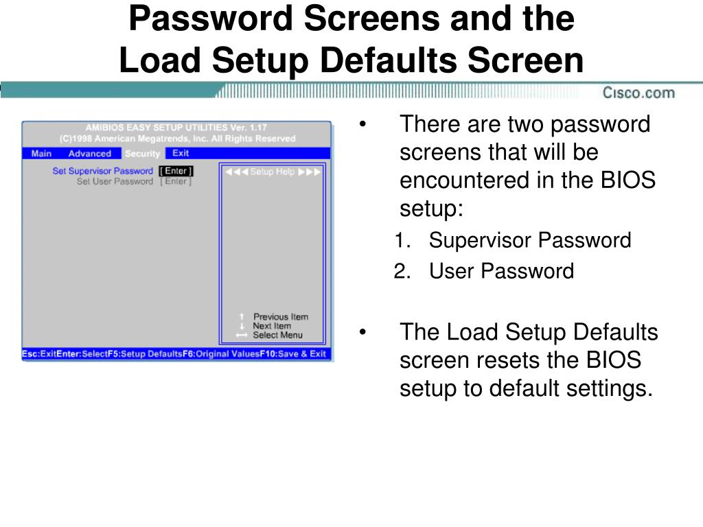 Password Screens and the
