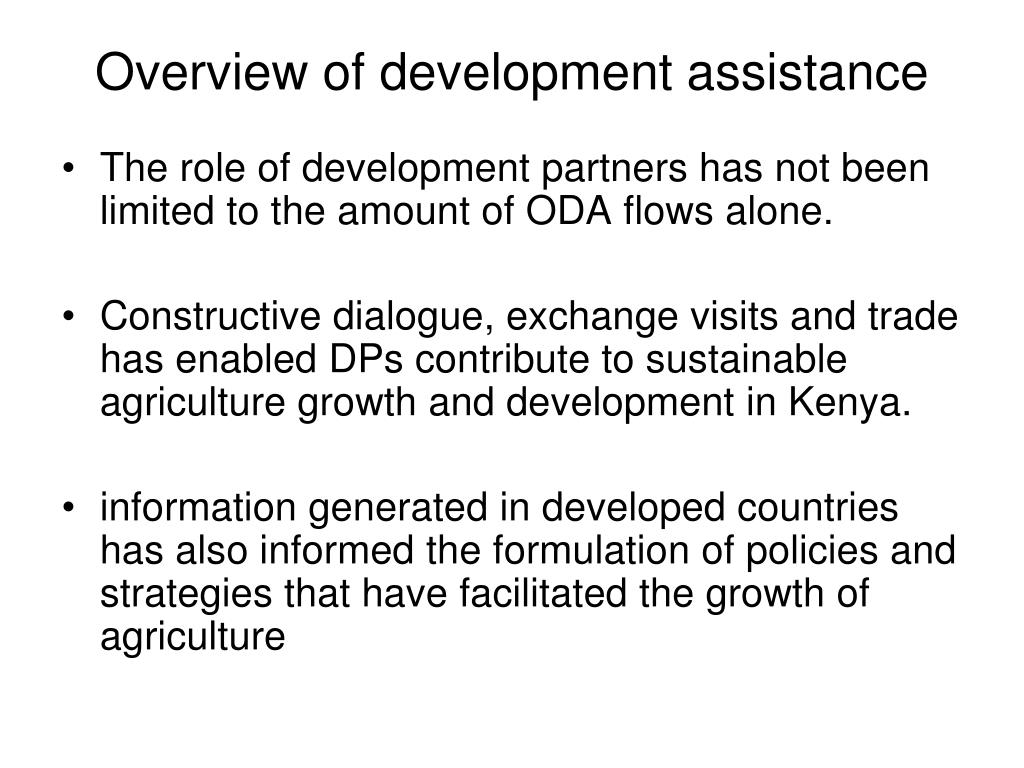 Overview of development assistance