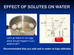 effect of solutes on water21