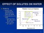 effect of solutes on water33