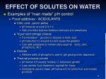 effect of solutes on water35
