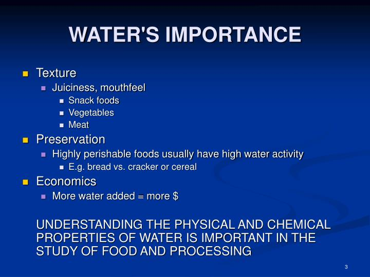 Water s importance3
