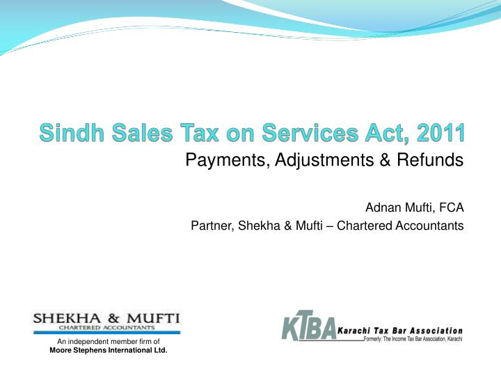 sindh sales tax on services act 2011 n.