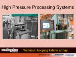 high pressure processing systems
