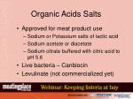organic acids salts