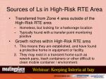 sources of ls in high risk rte area