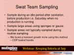 swat team sampling
