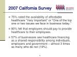 2007 california survey