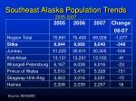 southeast alaska population trends 2005 2007