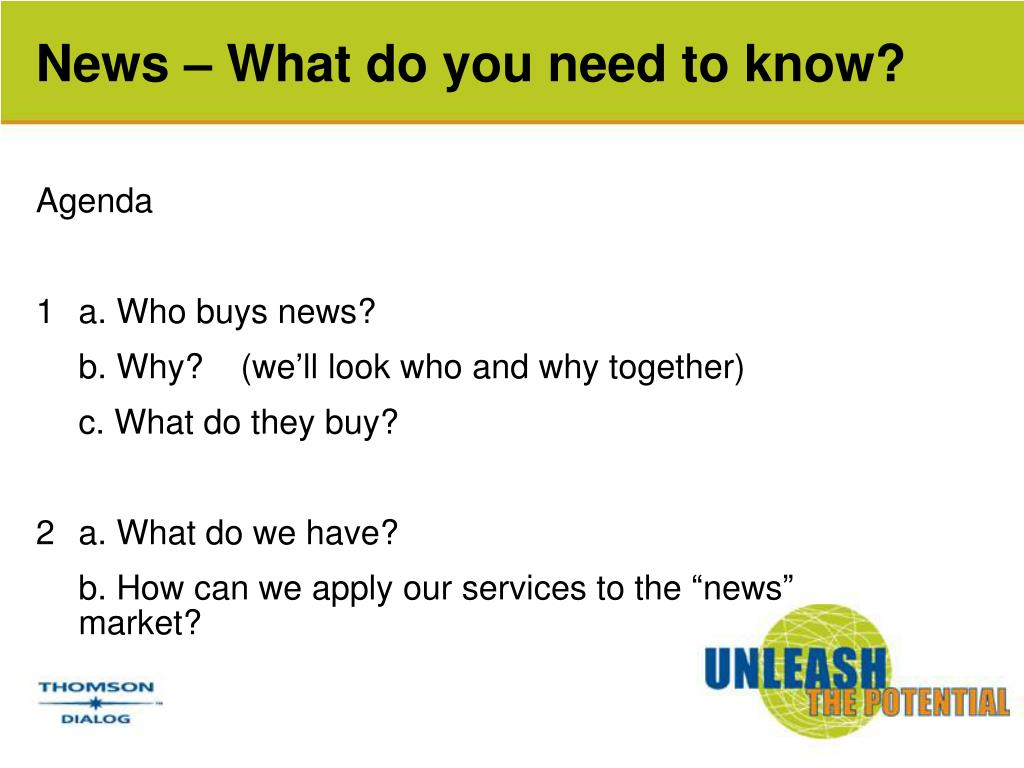 News – What do you need to know?