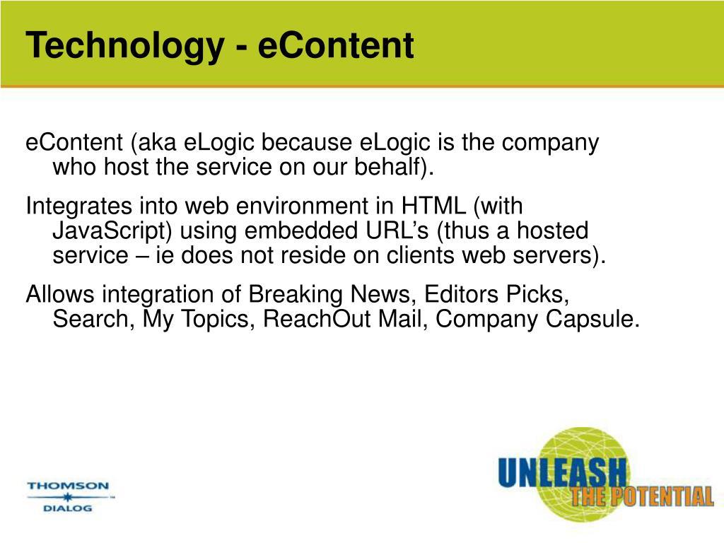 Technology - eContent