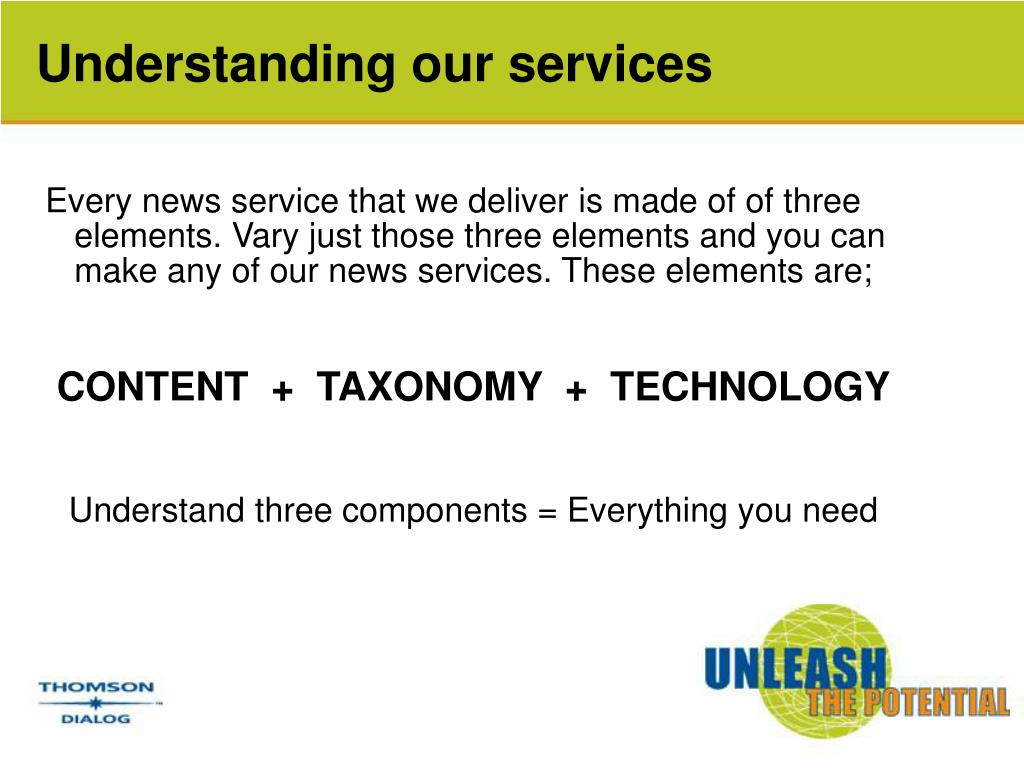 Understanding our services