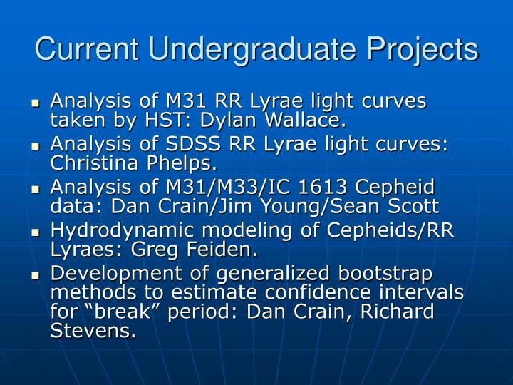Current Undergraduate Projects