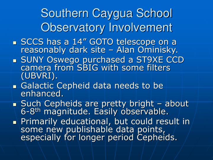 Southern Caygua School  Observatory Involvement