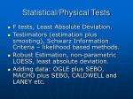 statistical physical tests