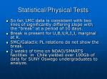 statistical physical tests1