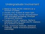 undergraduate involvement