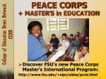 peace corps master s in education