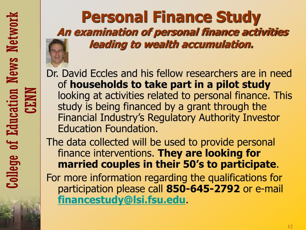 Personal Finance Study