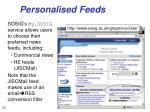 personalised feeds