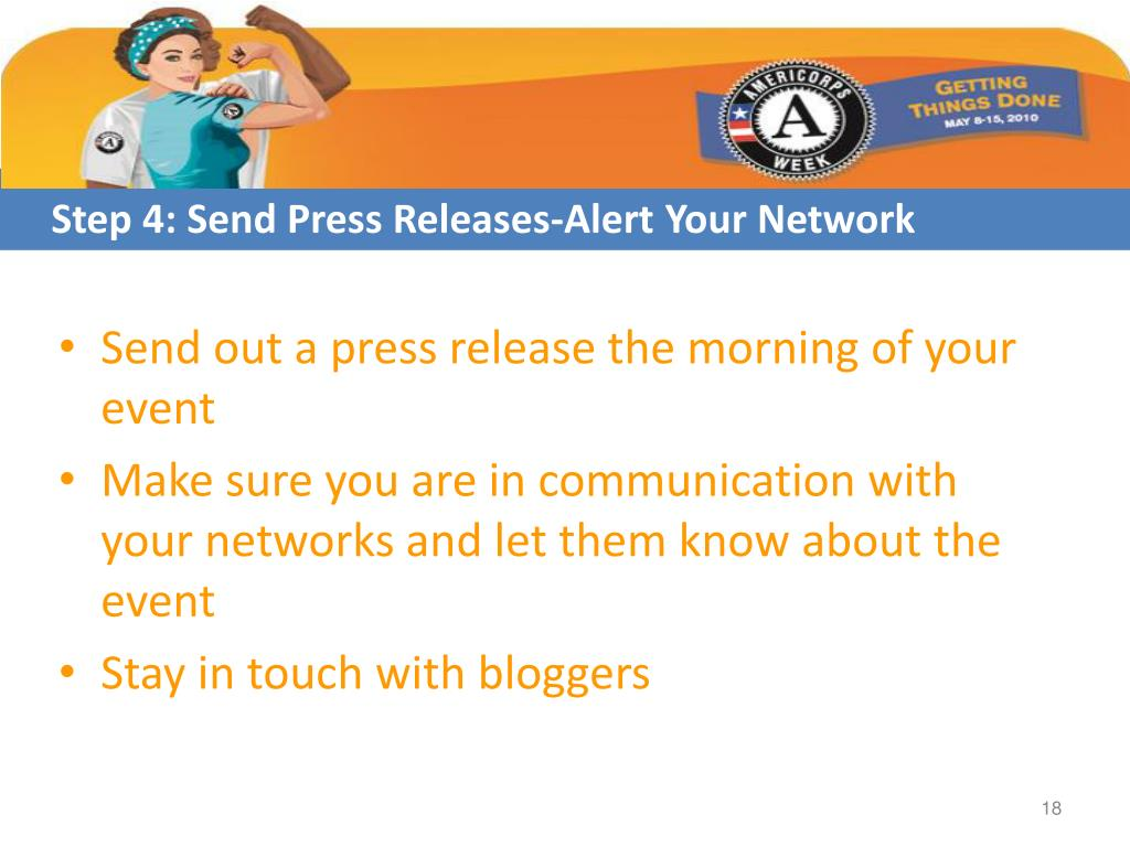 Step 4: Send Press Releases-Alert Your Network