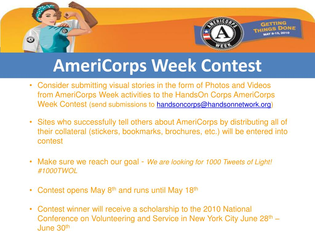 AmeriCorps Week Contest