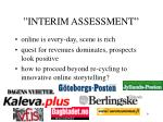 interim assessment