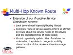 multi hop known route