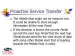 proactive service transfer