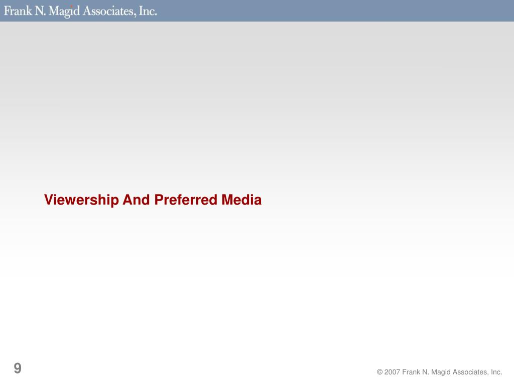 Viewership And Preferred Media