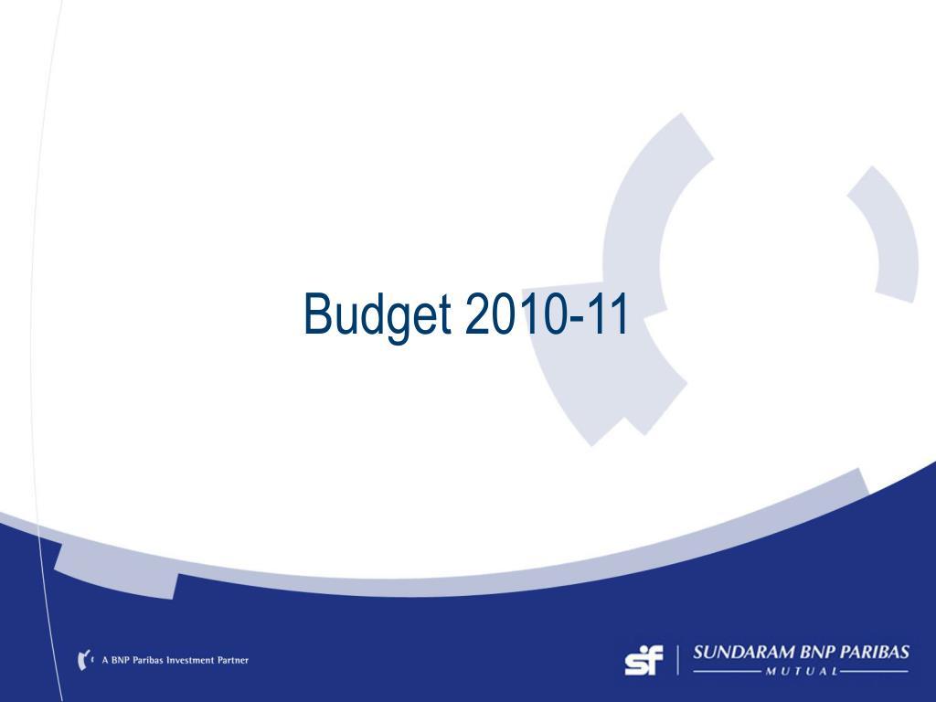 budget 2010 11 l.