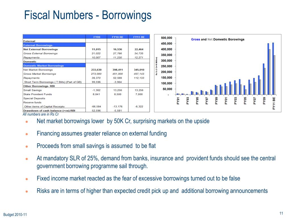Fiscal Numbers - Borrowings