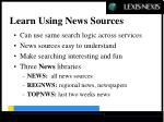 learn using news sources