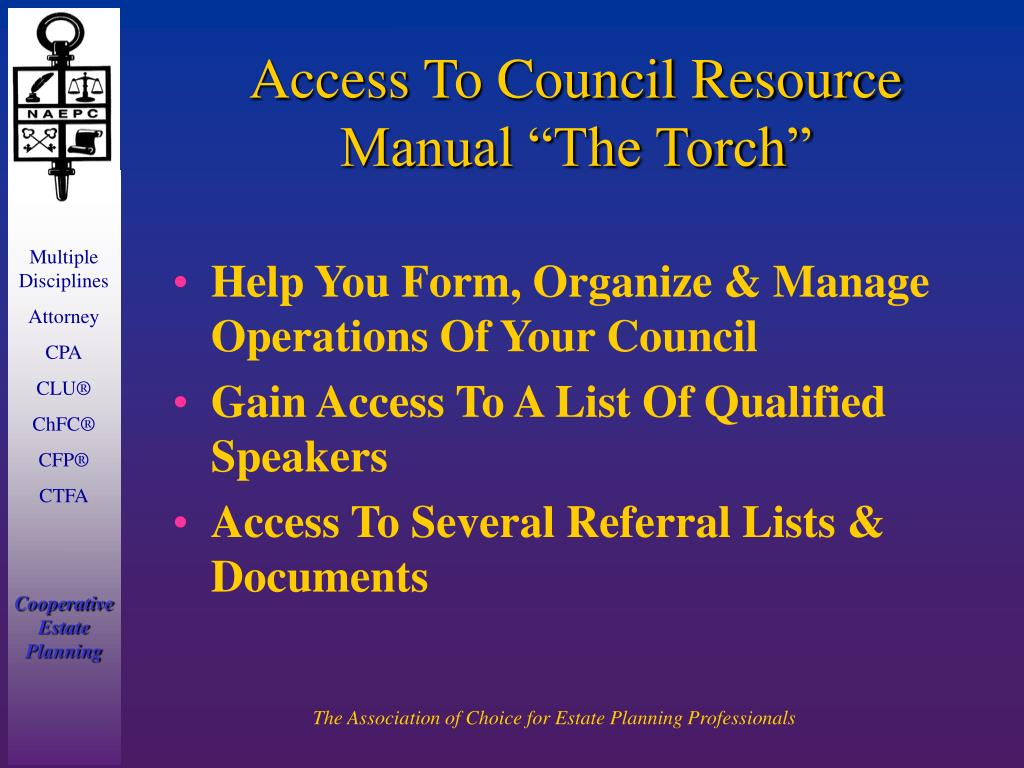 """Access To Council Resource Manual """"The Torch"""""""