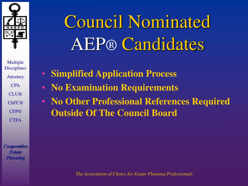 Council Nominated