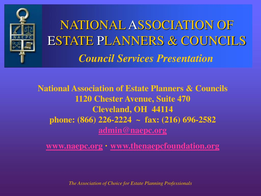 national a ssociation of e state p lanners councils l.